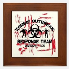 Zombie Response Team Framed Tile