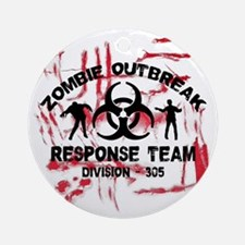 Zombie Response Team Round Ornament