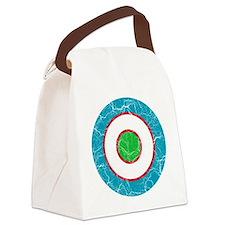 Uzbekistan Roundel Cracked Canvas Lunch Bag