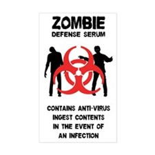 Zombie Defense Serum Decal