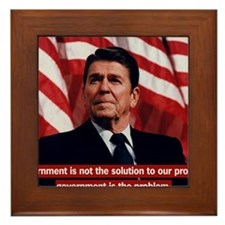 Government Is Not The Solution Framed Tile
