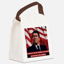 Government Is Not The Solution Canvas Lunch Bag