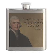 Thomas Jefferson God Quote Flask