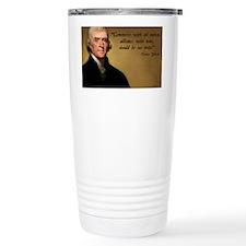 Jefferson Free Trade Quote Travel Mug