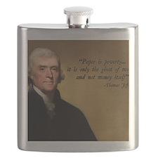 Thomas Jefferson Money Quote Flask