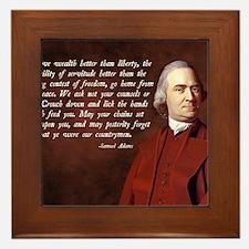 Samuel Adams Framed Tile
