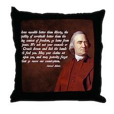 Samuel Adams Throw Pillow