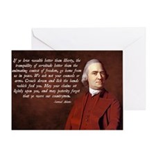 Samuel Adams Greeting Card