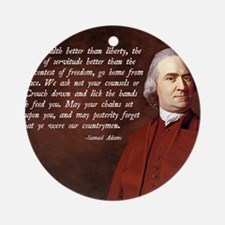 Samuel Adams Round Ornament
