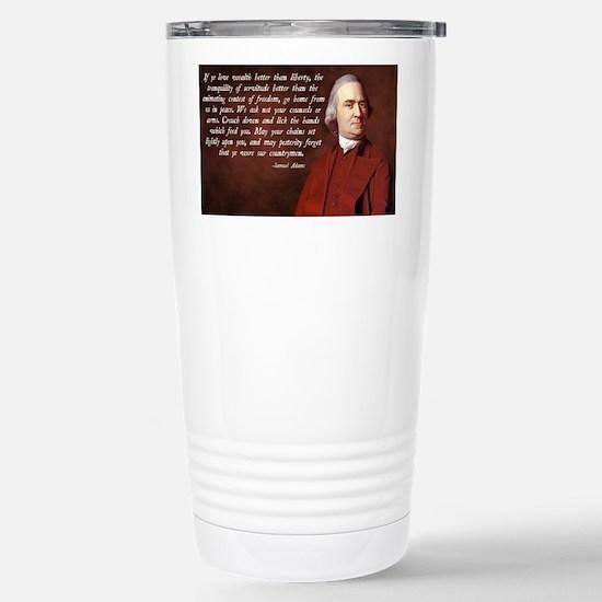Samuel Adams Stainless Steel Travel Mug