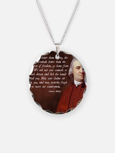 Samuel Adams Necklace Circle Charm