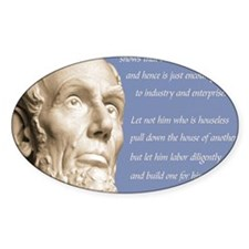 Abraham Lincoln Republican Quote Decal