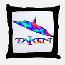 Taken by a UFO Multi Colored 3 Throw Pillow