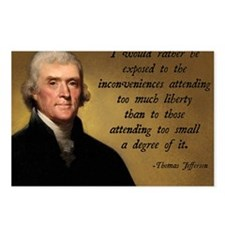 Jefferson Liberty Quote Postcards (Package of 8)