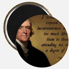 Jefferson Liberty Quote Magnet