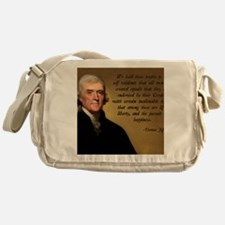 Declaration of Independence Quote Messenger Bag