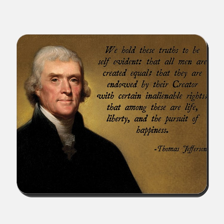 Declaration of Independence Quote Mousepad