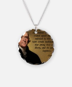 Declaration of Independence  Necklace Circle Charm