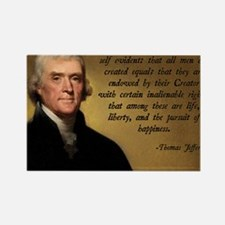 Declaration of Independence Quote Rectangle Magnet