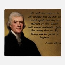 Declaration of Independence Quote Throw Blanket