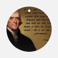 Jefferson Wise Government Round Ornament