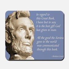 Abraham Lincoln Bible Quote Mousepad