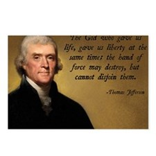 God and Liberty Quote Postcards (Package of 8)
