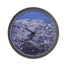 South Africa, Capetown, cityscape, elev Wall Clock