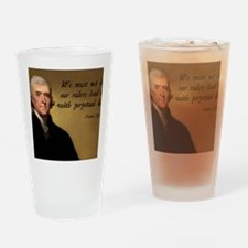 Thomas Jefferson Debt Quote Drinking Glass