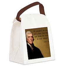 Jefferson Debt Quote Canvas Lunch Bag
