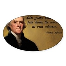 Jefferson Debt Quote Decal