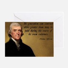 Jefferson Debt Quote Greeting Card