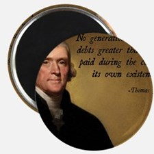 Jefferson Debt Quote Magnet