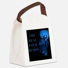 The Real Folk Bloos (blue1) Canvas Lunch Bag