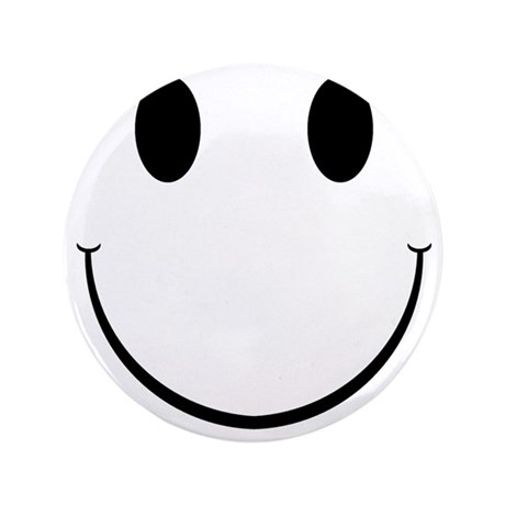 "Smiley Face 3.5"" Button"