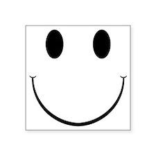 """Smiley Face Square Sticker 3"""" x 3"""""""