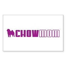 Chow Mom 2 Rectangle Decal