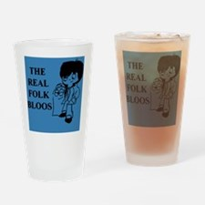 The Real Folk Bloos (blue 2) Drinking Glass