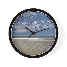 Canada, Nova Scotia, incoming tide unde Wall Clock