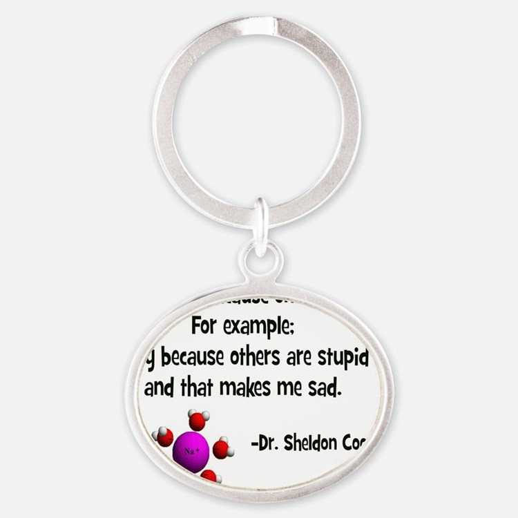 Others are stupid- Oval Keychain