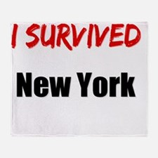 I survived NEW YORK Throw Blanket