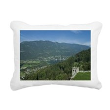 Lake Ossiacher with ruin Rectangular Canvas Pillow