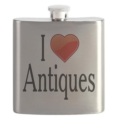 I Love Antiques Flask