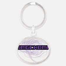 omgchomp Oval Keychain