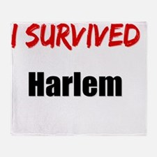I survived HARLEM Throw Blanket