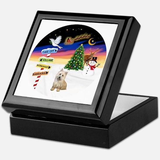XmasSigns-Cairn Terrier Keepsake Box