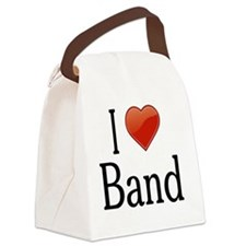 I Love Band Canvas Lunch Bag
