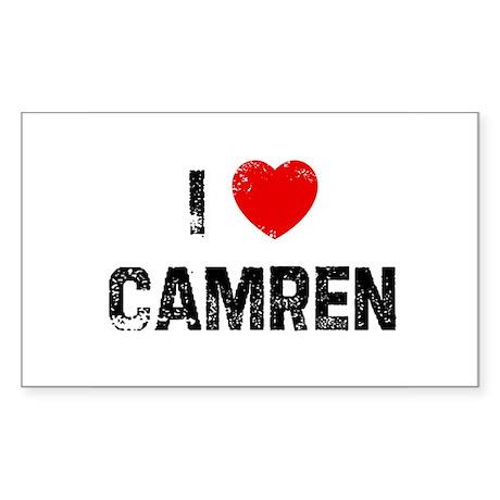 I * Camren Rectangle Sticker
