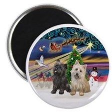 XmasMagic-TWO Cairn Terriers Magnet