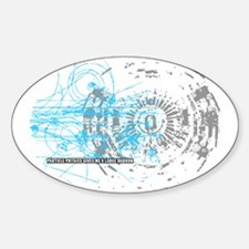 Particle Physics Gives Me A Large H Sticker (Oval)